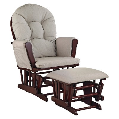 Stork Craft Hoop Cherry Glider and Ottoman - Taupe Swirl