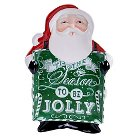 "Certified International Chalkboard Christmas 3-D Platter Santa (16.75"" x 11.75"")"