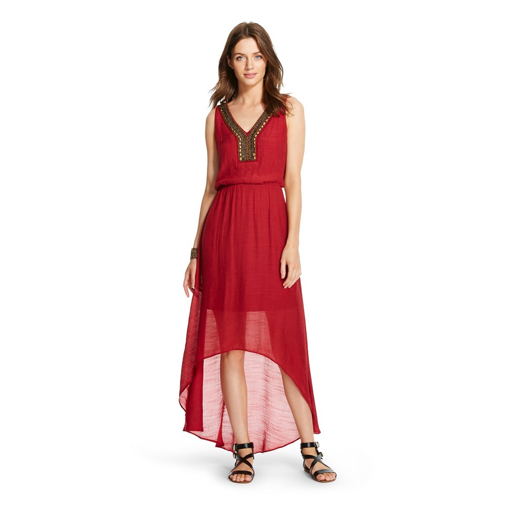 889a579ad43 Women s Neck Embellished Tank Maxi Dress Spice Red 12  2158 ...