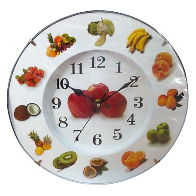 Creative Motions Wall Clock - Fruit