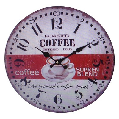 Creative Motions Retro Coffee Clock
