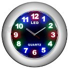 Creative Motions LED Clock with Chrome Frame