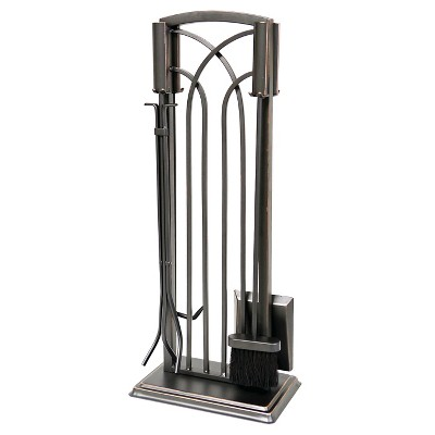 Arch Fireplace Tool Set - Black/Bronze Finish - Smith & Hawken™