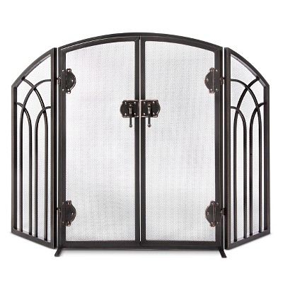 Arch Fireplace Screen - Black/Bronze Finish - Smith & Hawken™