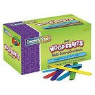 Chenille Kraft® Colored Wood Craft Sticks, 4 1/2 x 3/8 - Multi-Colored (1000 Per Box)