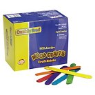 Chenille Kraft® Colored Wood Craft Sticks, Jumbo, 6 x 3/4 - Multi-Colored (500 Per Box)