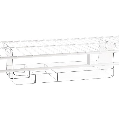 InterDesign Tru-Grasp™ Under-the-Shelf Hanging Divided Bin - Clear (Small)