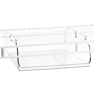 InterDesign Tru-Grasp™ Under-the-Shelf Hanging Bin - Clear (Large)