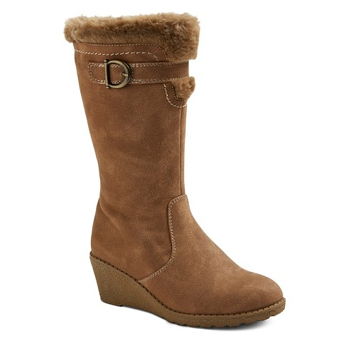 shoes s saratoga shearling wedge boots target