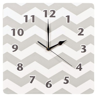Trend Lab Grey Chevron Decorative Clock