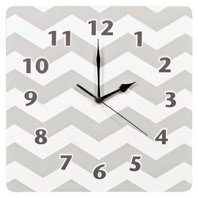 Trend Lab Grey Chevron Decorative Clock