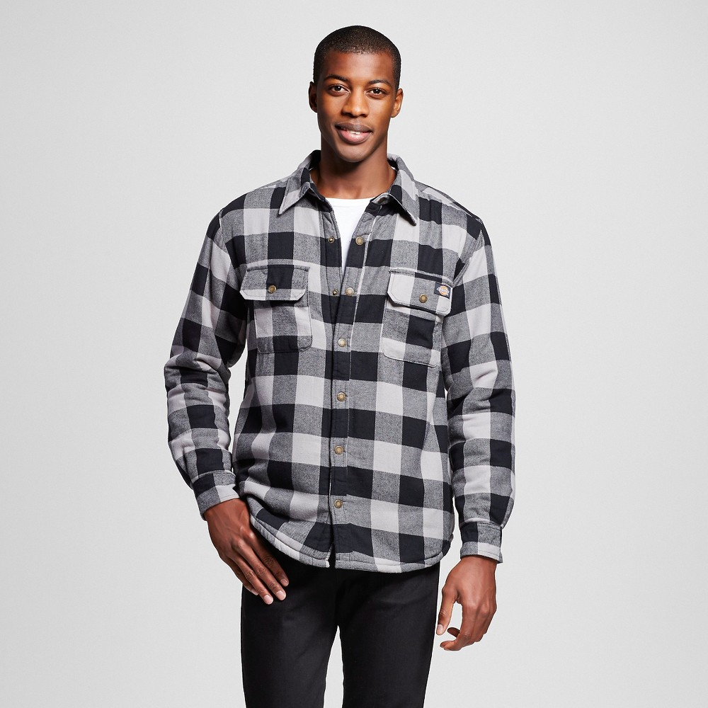 Dickies Men 39 S Big Sherpa Lined Flannel Shirt Jacket