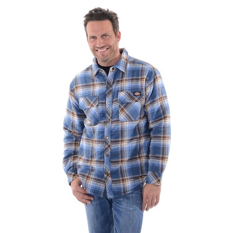 Dickies Men 39 S Big Sherpa Lined Flannel Shirt Target