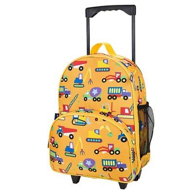 "Wildkin 34"" Olive Kids Under Construction Rolling Luggage"