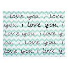 Trend Lab I Love You Chevron Wall Canvas