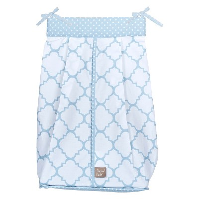 Trend Lab Blue Lattice Diaper Stacker