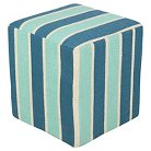 """Carme Stripe Cube Pouf 16"""" x 16"""" x 18"""""""