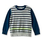 Toddler Boys' Striped Pullover Sweater - Heather Grey & Navy - Genuine Kids