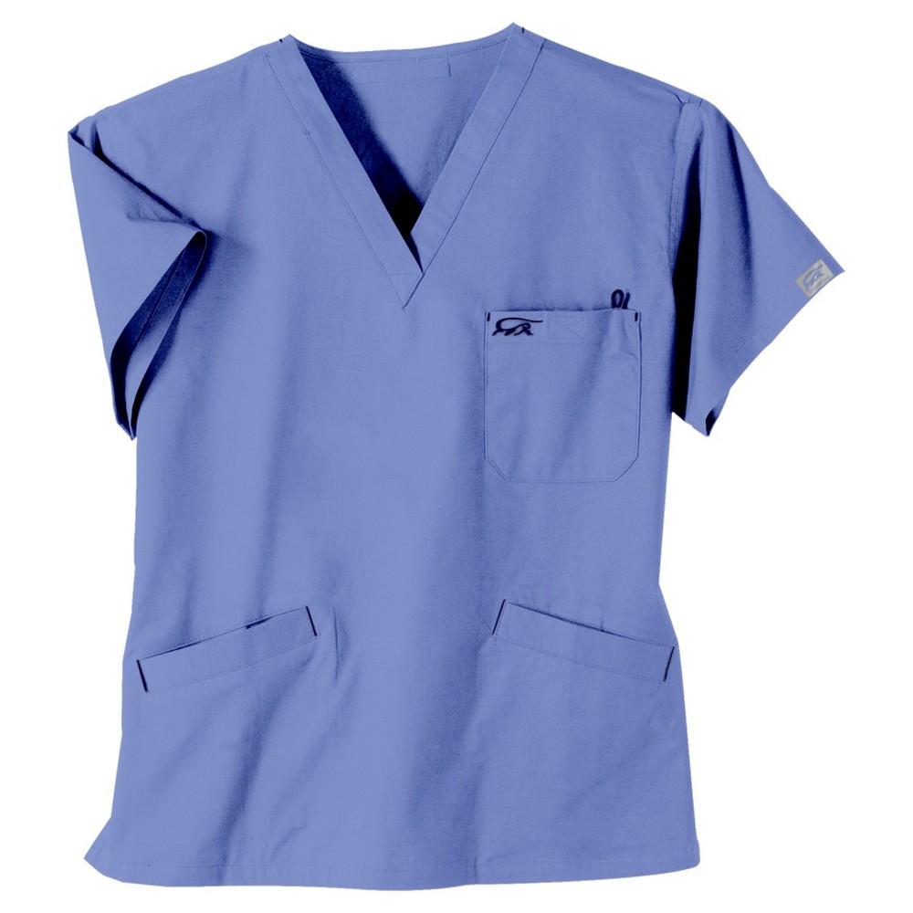 IguanaMed Women's 3-Pocket Classic Scrub Top - Ceil Blue