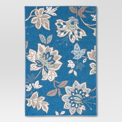 Threshold™™ Cool Floral Printed Kitchen Rug 30x46""