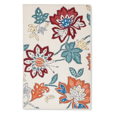 Threshold™™ Warm Floral Printed Kitchen Rug 30x46""