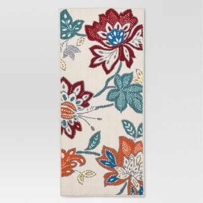 Threshold™™ Warm Floral Printed Kitchen Rug 20x45""