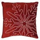 Threshold™ Red Velvet Snowflake Toss Pillow - Red