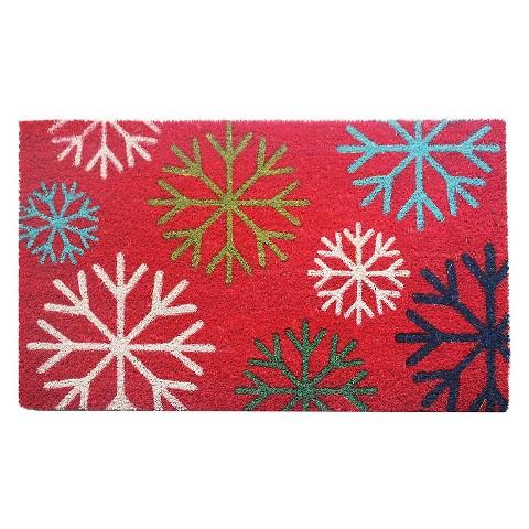 "Snowflake Holiday Doormat - Red (18""X30"") : Target"