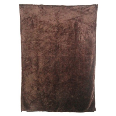 Threshold™ Fuzzy Throw - Brown (50x70 inches)