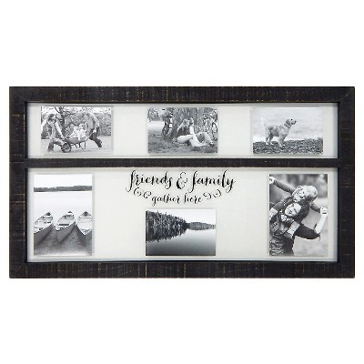Collage Float Frame - Friends & Family - Holds 4x4, 4x6, and 5x7 Photos