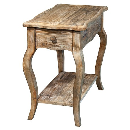 rustic reclaimed chairside table driftwood alaterre target