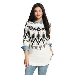 Women's Pullover Tunic Sweater Cream - Merona™