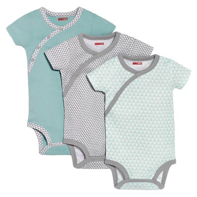Skip Hop Newborn Boys' 3pk Side Snap Bodysuite - Blue NB