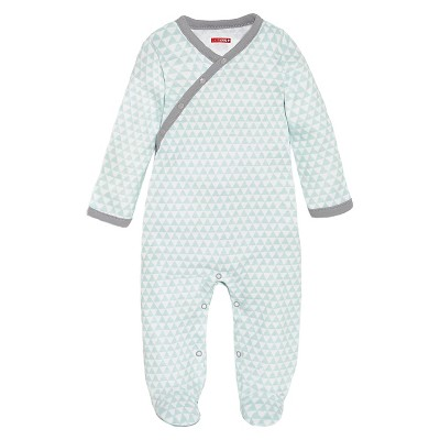 Skip Hop Petite Triangles Side-Snap Footies Newborn, Blue
