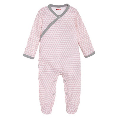 Skip Hop Newborn Girls' Long-sleeve Side-Snap - Pink 3 M