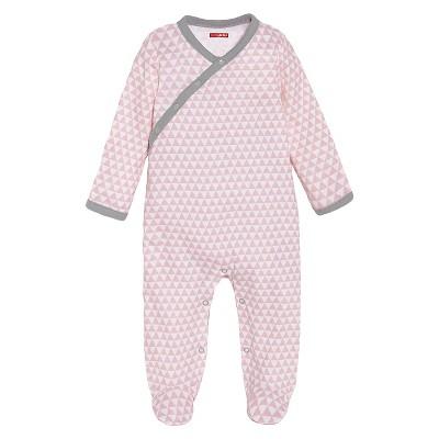 Skip Hop Petite Triangles Side-Snap Footies Newborn, Pink
