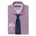 Men's Gingham Dress Shirt & Solid Tie Set Red - Graham & Graham