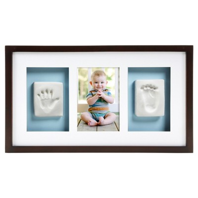 Pearhead Babyprints Hand & Foot Wall Frame - Espresso