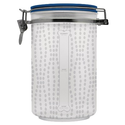 "Waverly 8"" Pet Food Storage Treat Jar - Clear Metal"