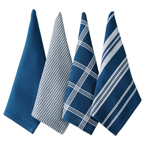 CHEFS Mixed Pattern Kitchen Towels Set of 4