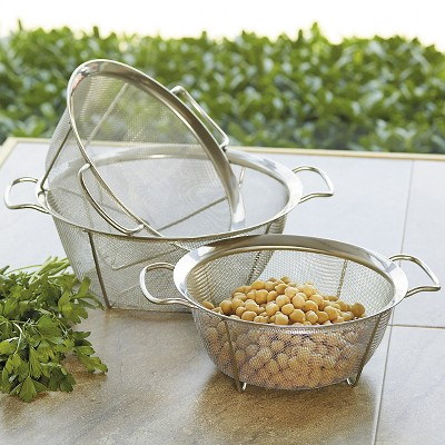 CHEFS Set of 3 Stainless Steel Mesh Colander