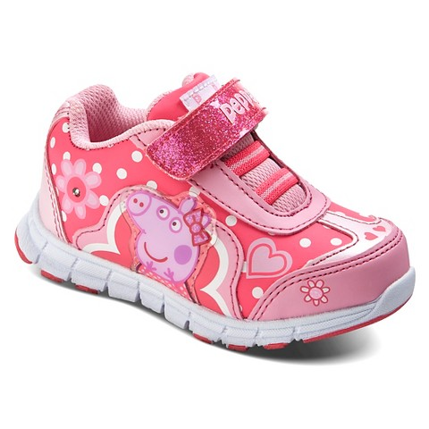 peppa pig toddler s light up sneakers pink target