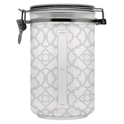 "Waverly 10"" Pet Food Storage Treat Jar - Clear Metal"