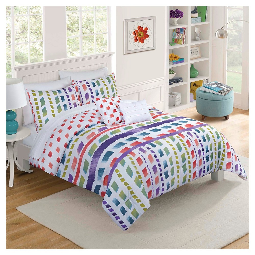 Vue Paris 5-Piece Comforter Set - Multi-Colored (King)