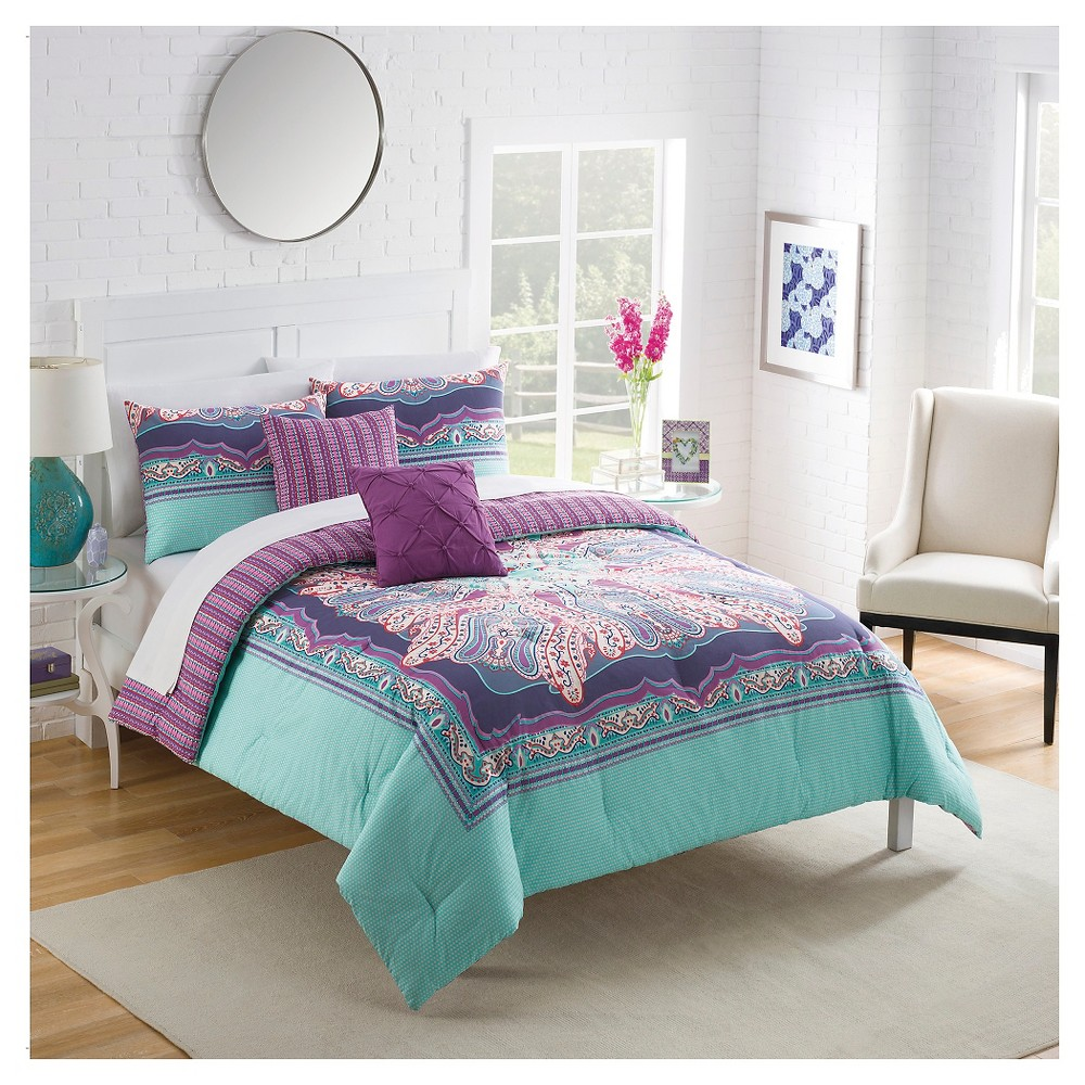 Vue Khaleesi 5 piece Comforter Set - Multi-Colored (King)