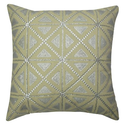 Silver Sequin Geo Toss Pillow – Threshold™