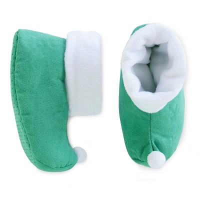 Boys' Bootie Slippers Green 12-24M - Circo™