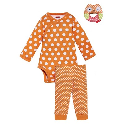 Skip Hop Newborn 3pc Gift Set - Orange 3 M