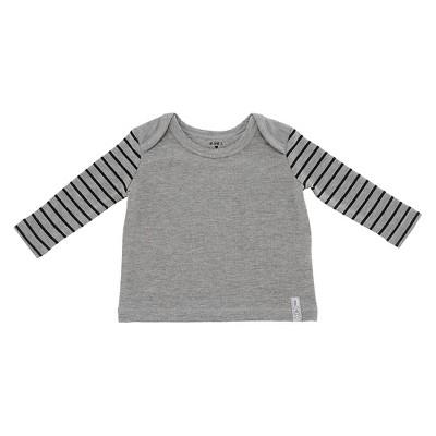 Chicco® Newborn Long Sleeve Shoulder Tee - Grey NB