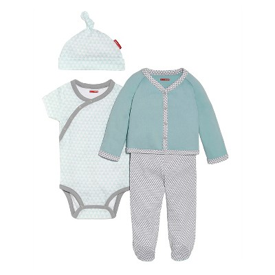 Skip Hop Petite Triangles Long Sleeve 4-piece Welcome Home Set, Blue
